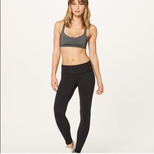 Lululemon Black Wonder Under LUON Leggings SZ 6